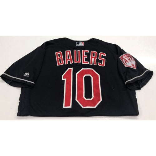 Photo of Jake Bauers Game-Used 2019 Spring Training Jersey