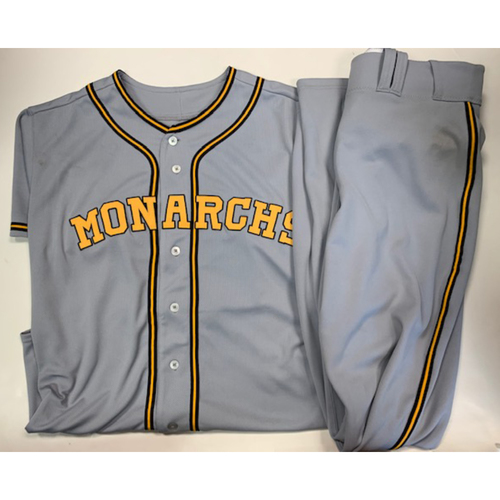 Photo of Game-Used Kansas City Monarchs Jersey & Pants 8-10-2019: Mike Montgomery
