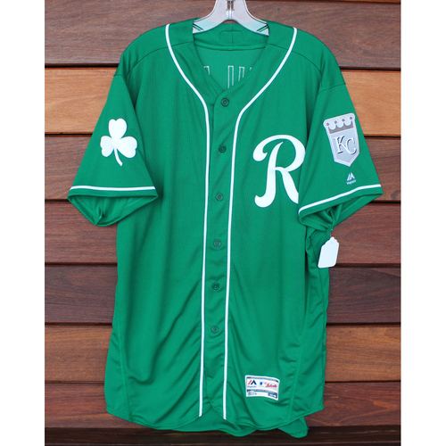 Photo of Game-Used St. Patrick's Day Jersey: Tim Hill (Size 48 - 3/17/19 - KC @ SF)
