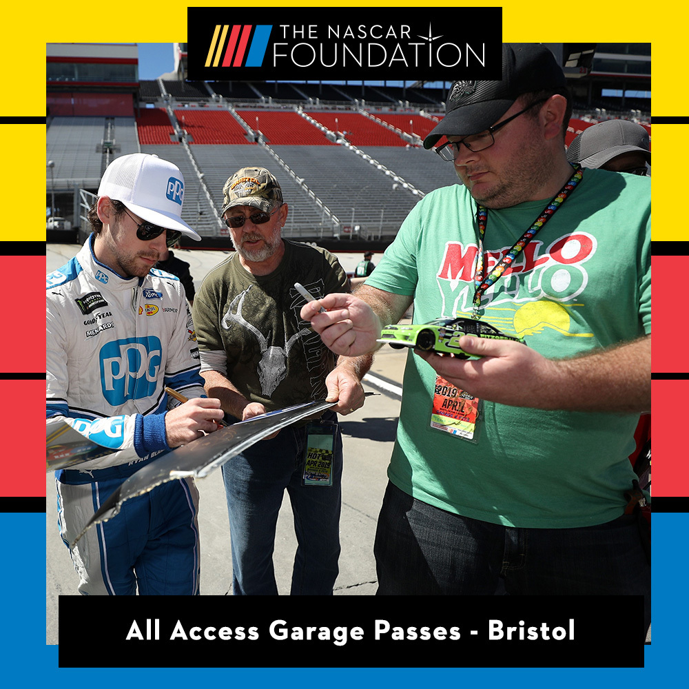 Two All Access NASCAR Garage Passes at Bristol Motor Speedway!