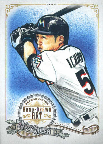 Photo of 2017 Topps Gypsy Queen Hand Drawn Art Reproductions #GQARI2 Ichiro