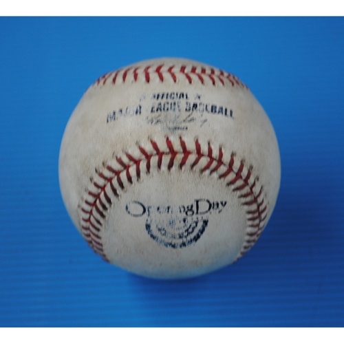 Photo of Game-Used Opening Day Baseball - Cardinals @ Diamondbacks - Batter - Carlos Beltran, Pitcher - Ian Kennedy - Top of 7, Pitch in the Dirt - 4/1/13