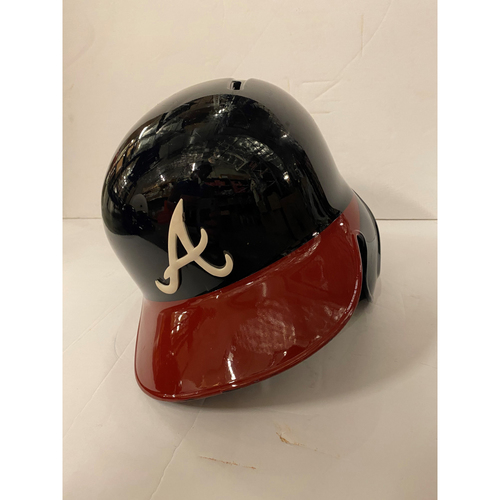 Photo of Ozzie Albies Game Used Home Helmet - Right Handed Batting - Worn 8/14/19