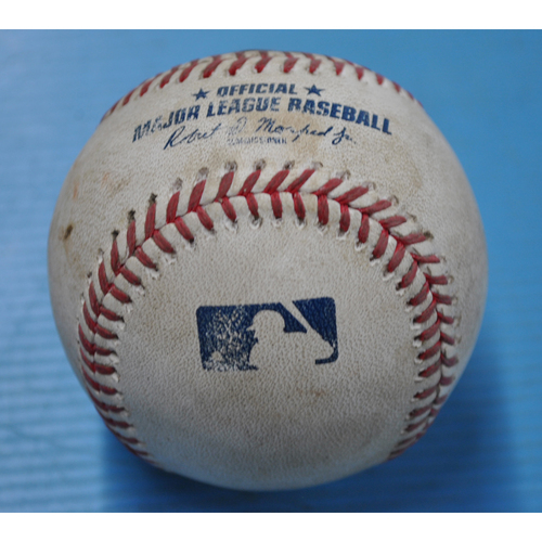 Photo of Game-Used Baseball - 9/23/2020 - CHI @ PIT - Pitcher - Richard Rodriguez, Batter - Javier Baez, Top 9, Strike Out