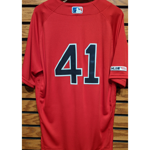 Photo of Chris Sale #41 Team Issued Red Home Alternate Jersey