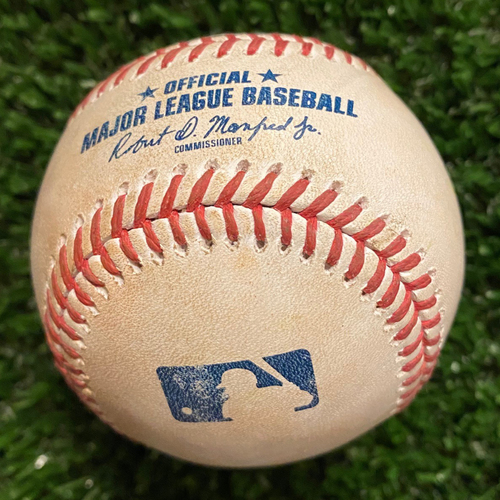 Anthony Rizzo Game-Used Ground Out Baseball - Pitched by Ian Anderson - 4/27/21 vs. Chicago Cubs