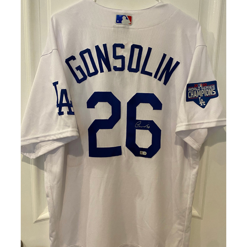 Photo of Tony Gonsolin Autographed Authentic Los Angeles Dodgers Jersey