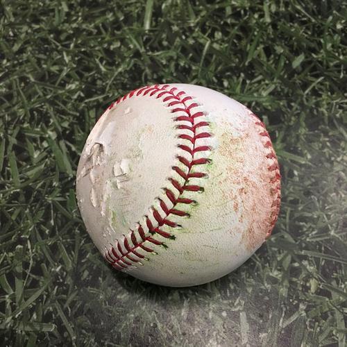 Photo of Game-Used Baseball PIT@MIL 04/18/21 - Brad Boxberger - Adam Frazier: Single