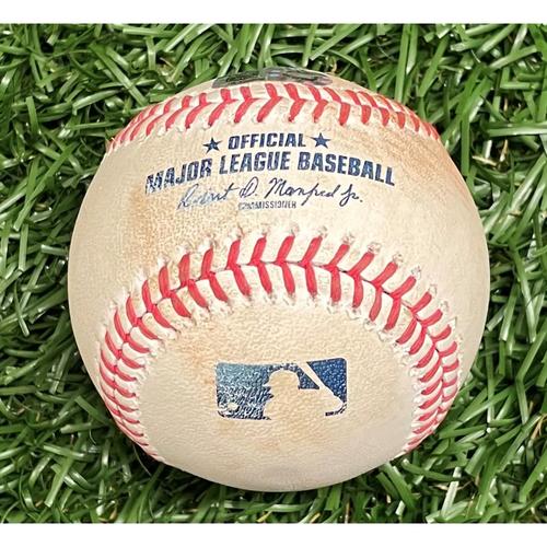 Photo of Game Used Baseball: Nate Lowe single off Anibal Sanchez - Bottom 4 - September 15, 2020 v WSH