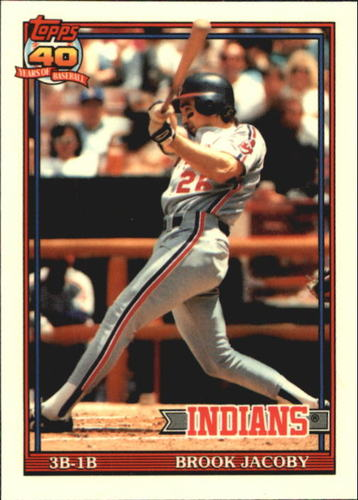 Photo of 1991 Topps Tiffany #47 Brook Jacoby