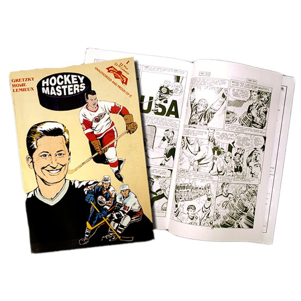 WAYNE GRETZKY, GORDIE HOWE, & MARIO LEMIEUX Hockey Masters Comic Book