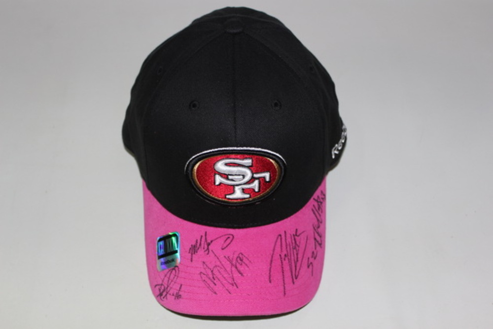 49ERS - MULTI SIGNED FITTED BCA HAT (INCLUDING MIKE SINGLETARY PATRICK  WILLIS MANNIE LAWSON DELANIE ce3f45c730c