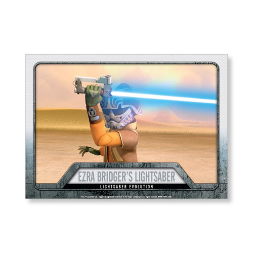 2016 Star Wars Evolution Ezra Bridger's Lightsaber EVOLUTION OF LIGHTSABER Poster - # to 99