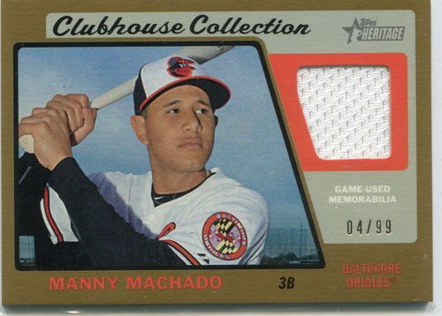 Photo of 2015 Topps Heritage Clubhouse Collection Relics Gold Manny Machado 04/99