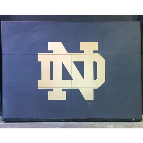 Photo of ND Scoreboard Sign from Notre Dame Stadium