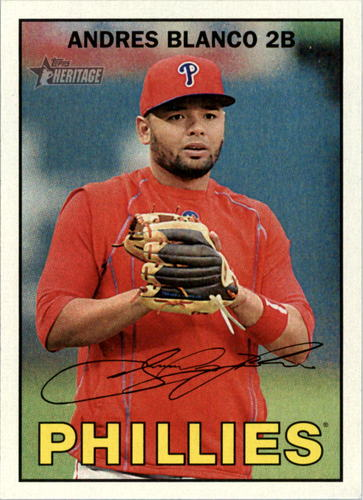 Photo of 2016 Topps Heritage #377 Andres Blanco