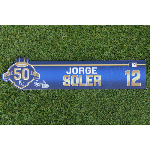 Photo of Game-Used Locker Nameplate: Jorge Soler