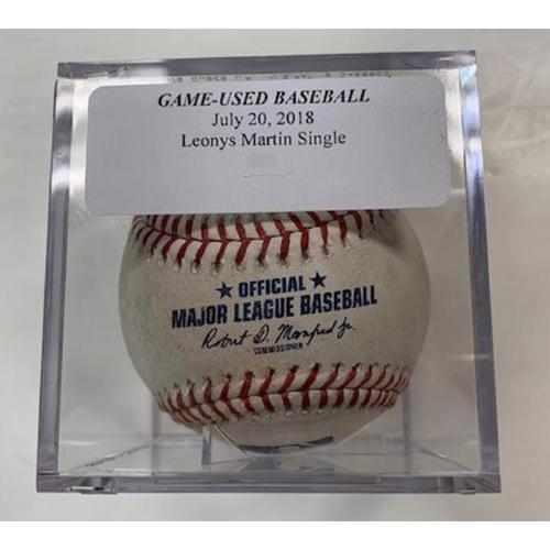 Photo of Game-Used Baseball: Leonys Martin Single