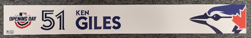 Photo of Authenticated Game Used Opening Day 2019 Locker Tag - #51 Ken Giles