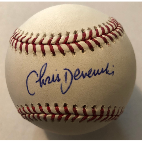 Photo of Chris Devenski Autographed Baseball