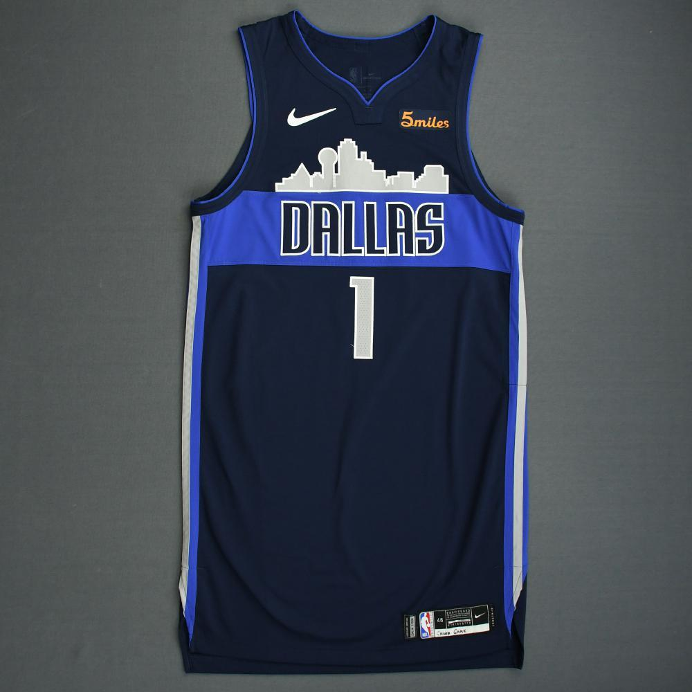 Dennis Smith Jr. - Dallas Mavericks - 2018-19 Season - China Games - Game-Worn Blue Icon Edition Jersey