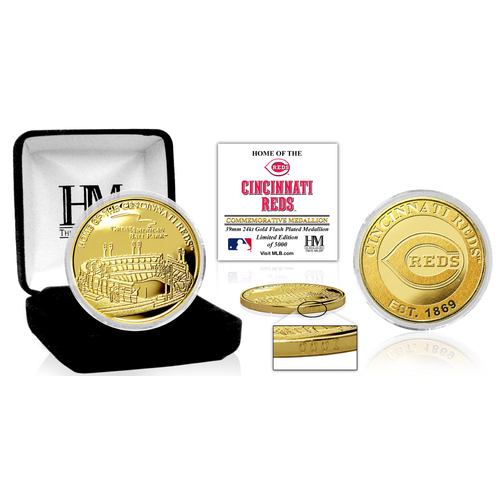 "Photo of Cincinnati Reds ""Stadium"" Gold Mint Coin"