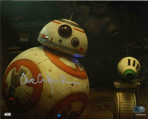 David Chapman As BB-8 8X10 AUTOGRAPHED IN 'SILVER' INK PHOTO