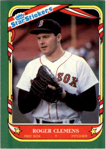 Photo of 1987 Fleer Star Stickers #24 Roger Clemens