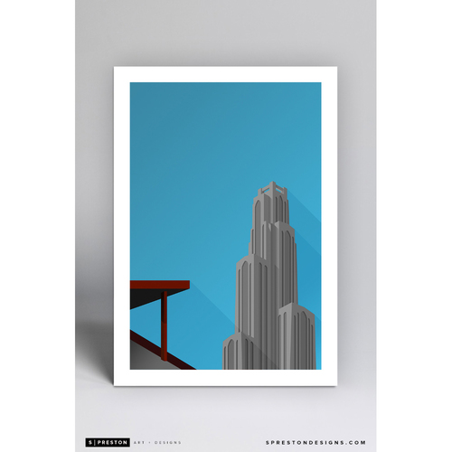 Photo of Forbes Field - Minimalist Ballpark Art Print by S. Preston  - Pittsburgh Pirates