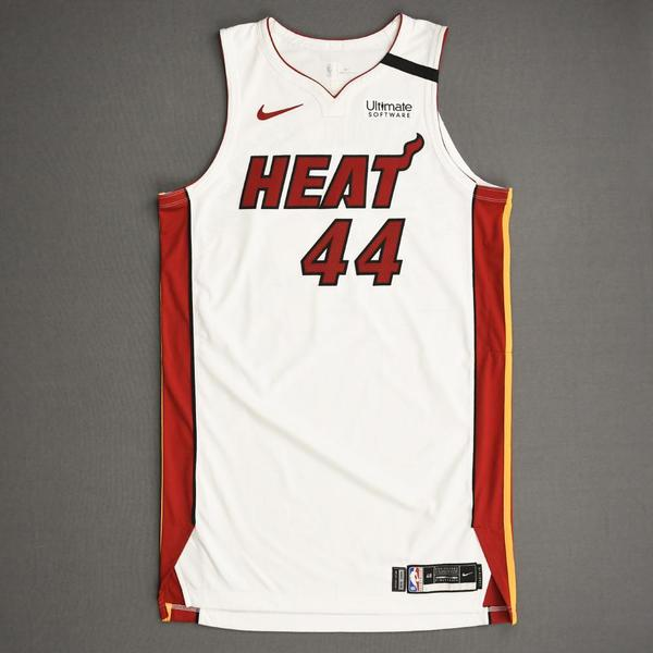 Image of Solomon Hill - Miami Heat - Game-Worn Association Edition Jersey - 2019-20 NBA Season Restart with Social Justice Message