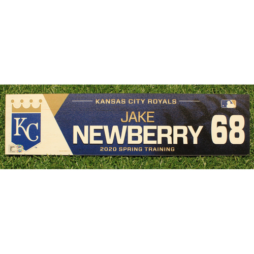 Photo of Game-Used 2020 Spring Training Locker Tag: Jake Newberry #68