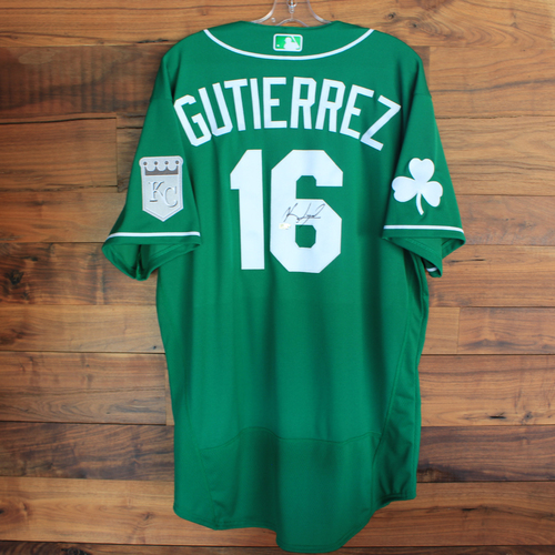 Photo of Autographed 2020 St. Patrick's Day Jersey: Kelvin Gutierrez #16 - Size 48