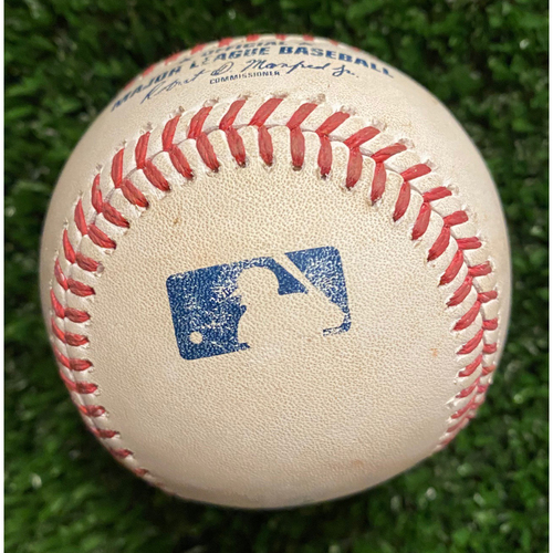 Austin Riley Game-Used Hit Double Baseball - 4/27/21 vs. Chicago Cubs