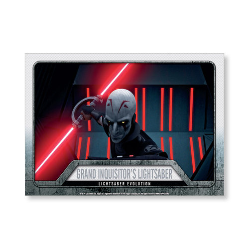 2016 Star Wars Evolution The Inquisitor's Lightsaber EVOLUTION OF LIGHTSABER Poster - # to 99