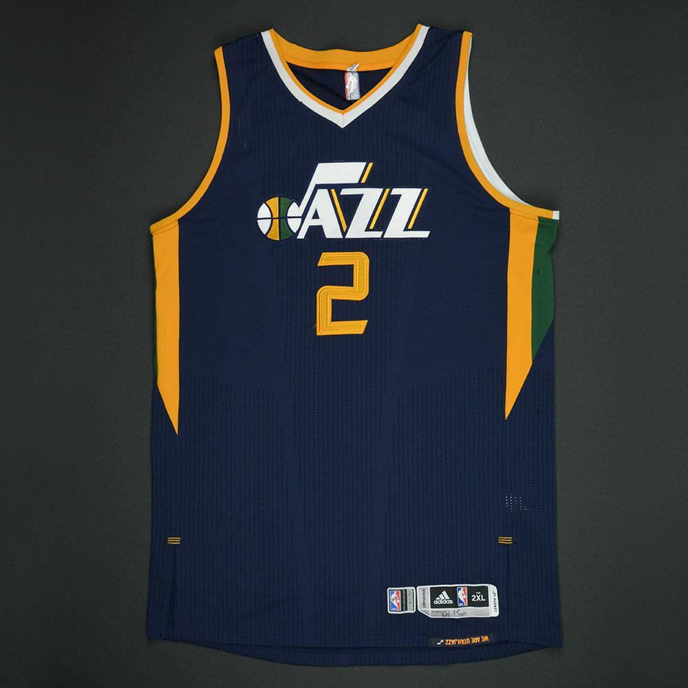 ... Swingman Jersey Joe Ingles - Utah Jazz - Navy Playoffs Game-Worn Jersey  - 1st Half Only Mens ... f974d57a3