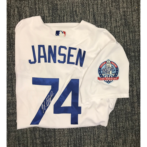 Photo of Kirk Gibson Foundation Auction: Kenley Jansen 2018 Game-Used Autographed Los Angeles Dodger Jersey