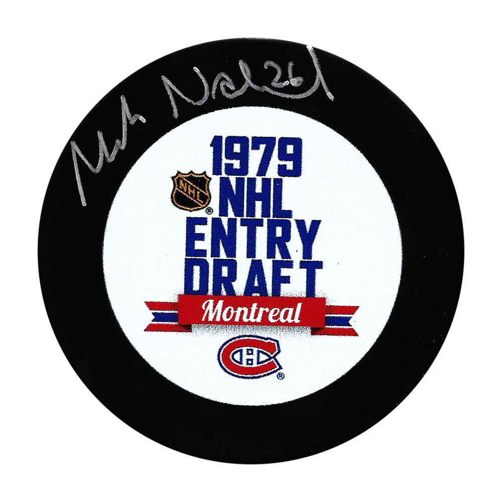 Mats Naslund Autographed 1979 NHL Entry Draft Puck w/37 OVERALL Inscription