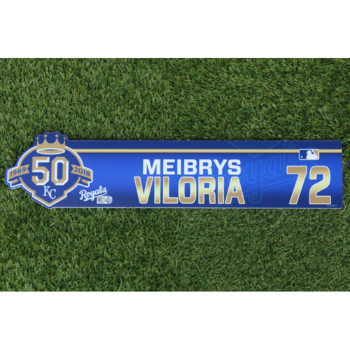 Photo of Game-Used Locker Nameplate: Meibrys Viloria