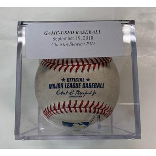 Photo of Game-Used Baseball: Christin Stewart Pitched in Dirt