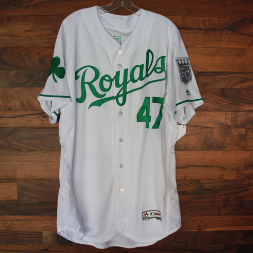 Photo of Game-Used St. Patrick's Day Jersey: Ricky Nolasco (Size 48 - 3/17/18)