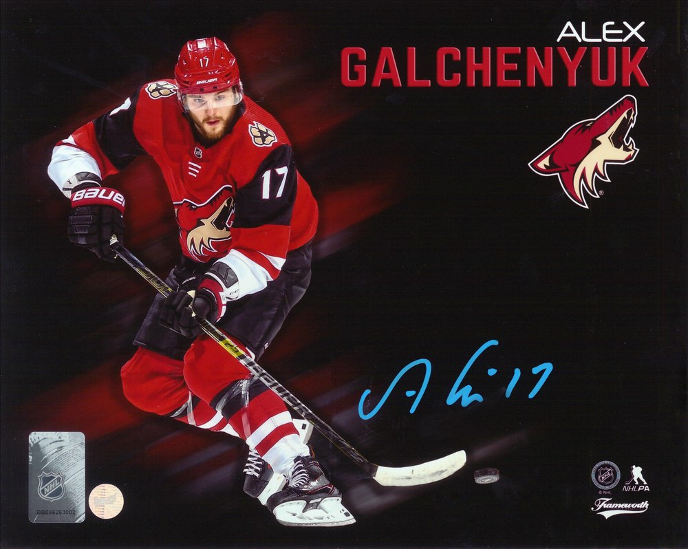 Alex Galchenyuk Signed 8x10 Unframed Coyotes Collage