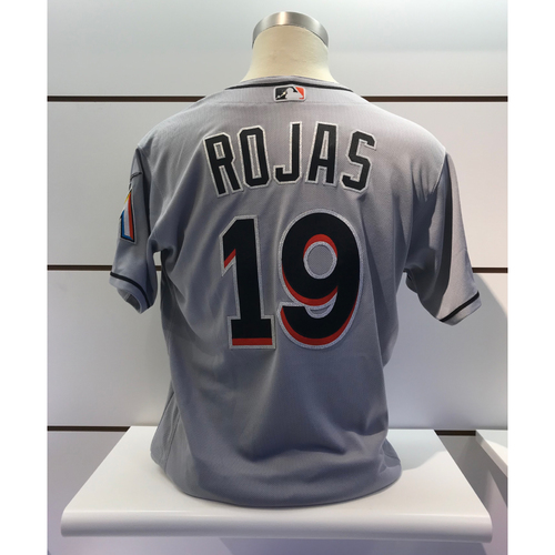 Photo of Game-Used Jersey: Miguel Rojas vs Nationals (September 24, 2018) - 1 Double, 1 RBI, 1 Walk (Size 46)