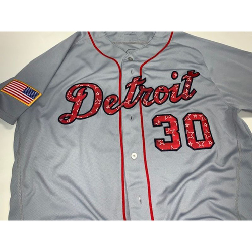 Photo of Game-Used Alex Wilson Stars and Stripes Jersey