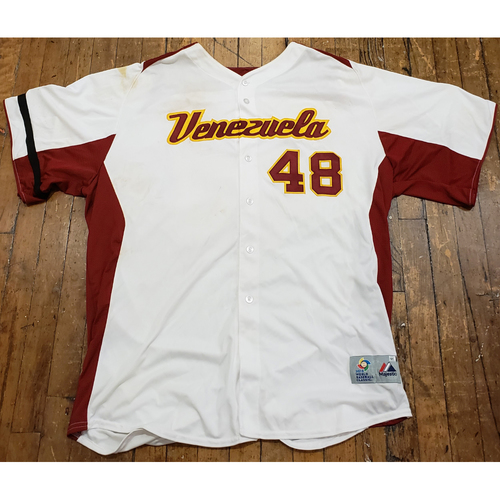 Photo of 2013 World Baseball Classic Game Used Jersey - Pablo Sandoval - Size 54 (Venezuela)