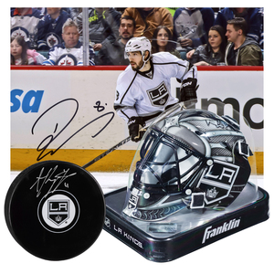 d09e1339 Los Angeles Kings Collectibles Bundle Featuring Autographed Drew Doughty  8x10, Autographed Anze Kopitar Puck and Unsigned Los Angeles Kings Mini  Goalie ...