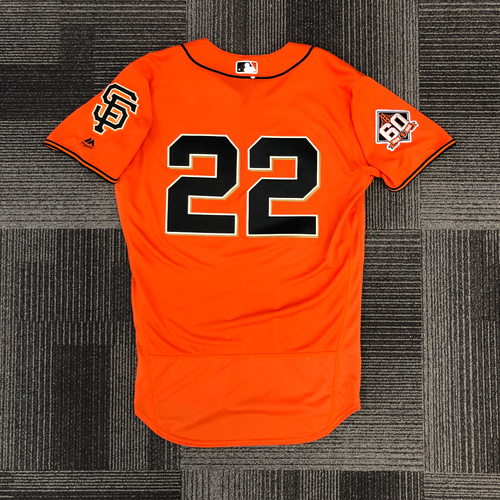 Photo of 2018 Team Issued Orange Home Alt Jersey - #22 Andrew McCutchen - Size 42