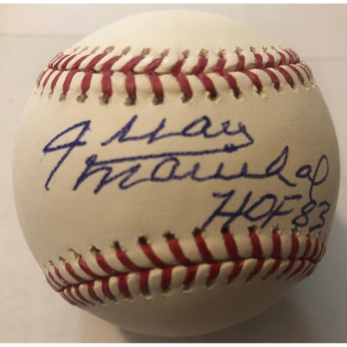 "Photo of Juan Marichal ""HOF 83"" Autographed Baseball"