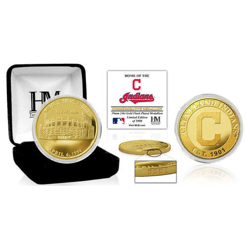 "Photo of Cleveland Indians ""Stadium"" Gold Mint Coin"