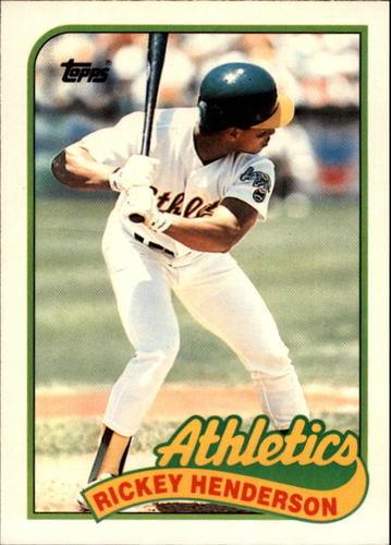 Photo of 1989 Topps Traded #48T Rickey Henderson