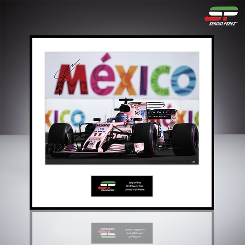 Photo of Sergio Perez 2018 Signed Photo 'Mexico' - BWT Racing Point F1 Team